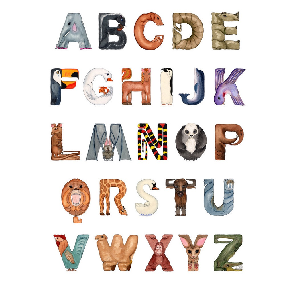 fun animal shaped letters