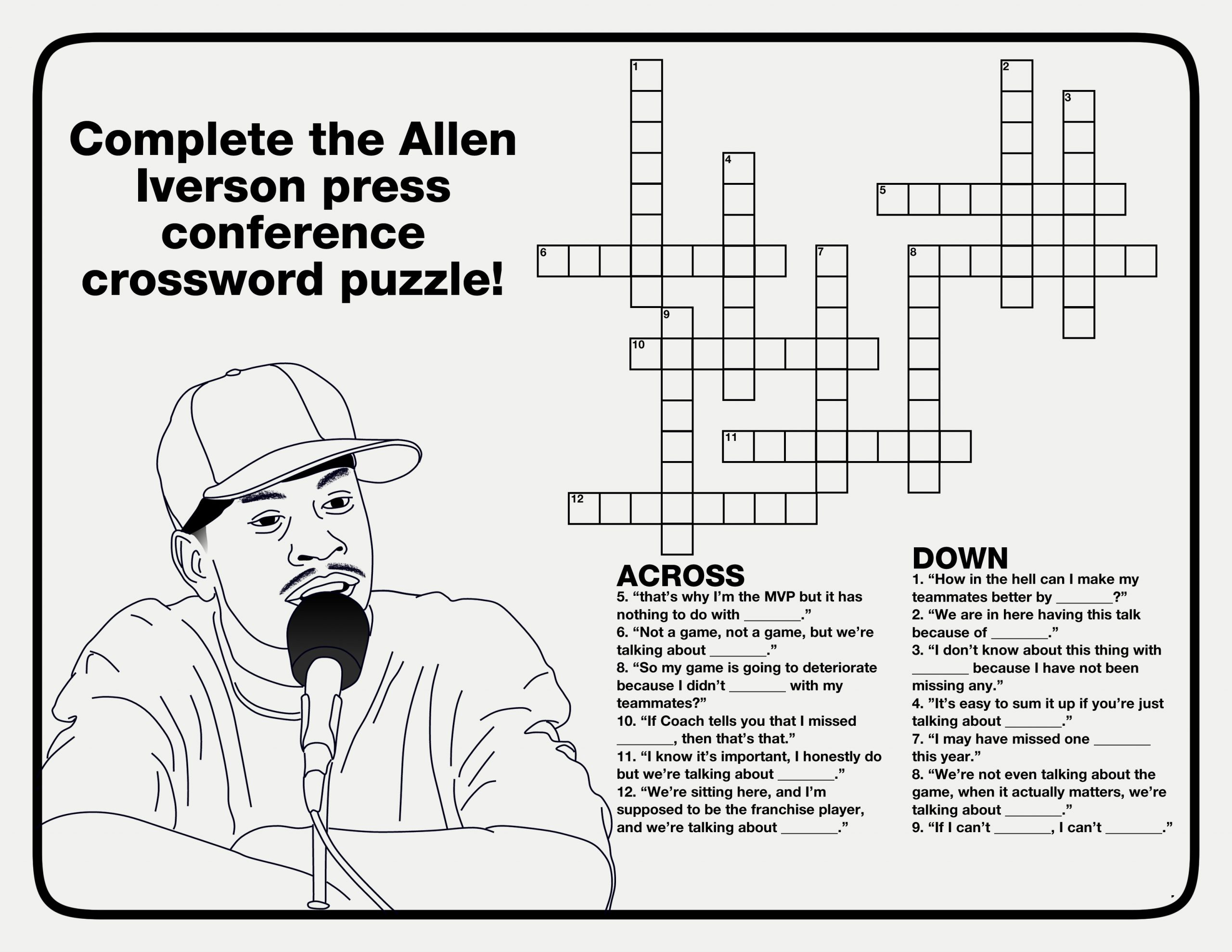 fun basketball crossword puzzle