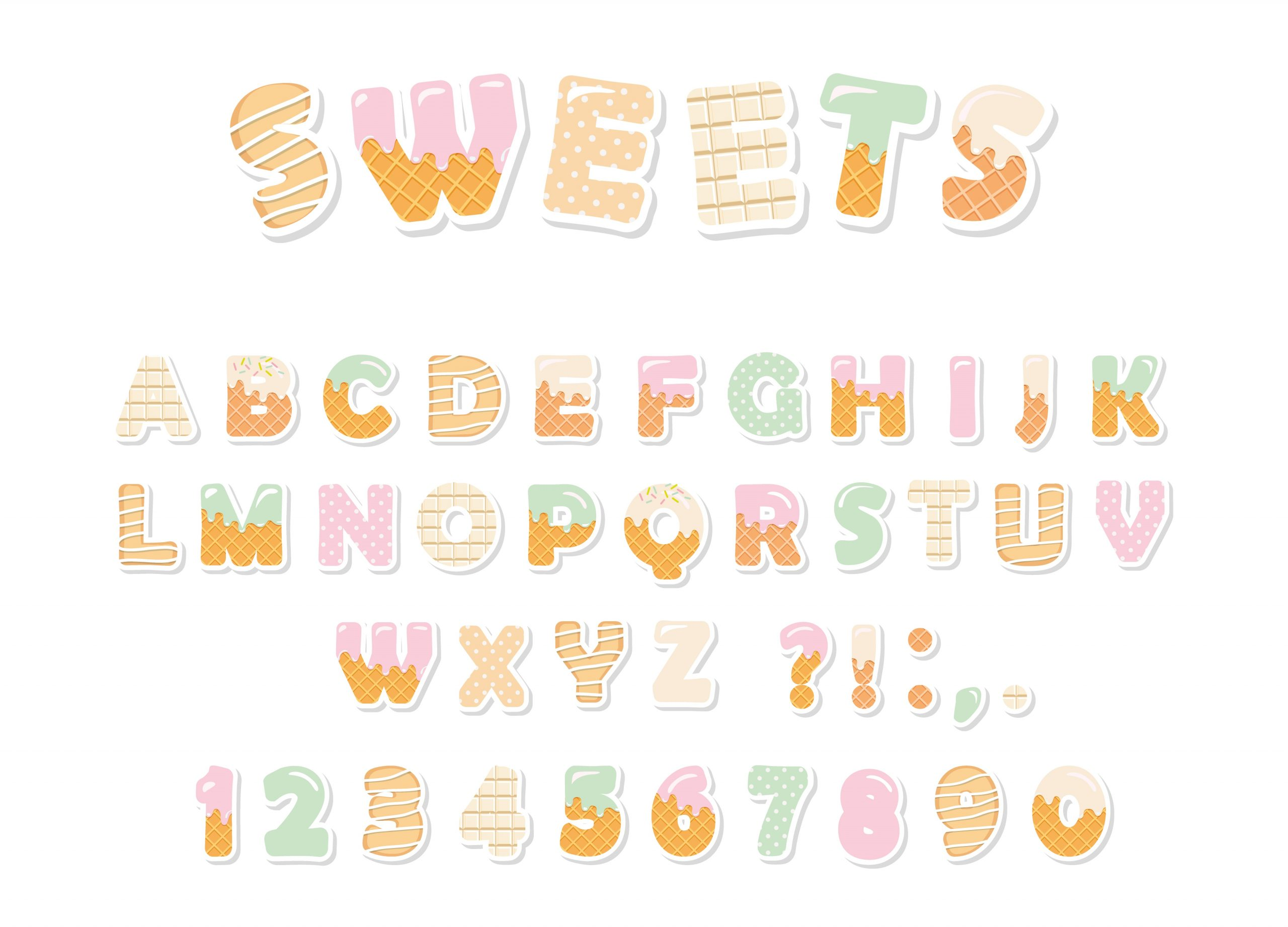 funny letters and numbers for kids