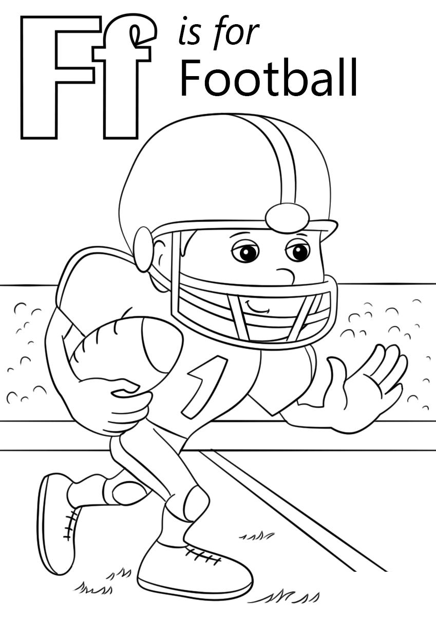 printable football color sheets