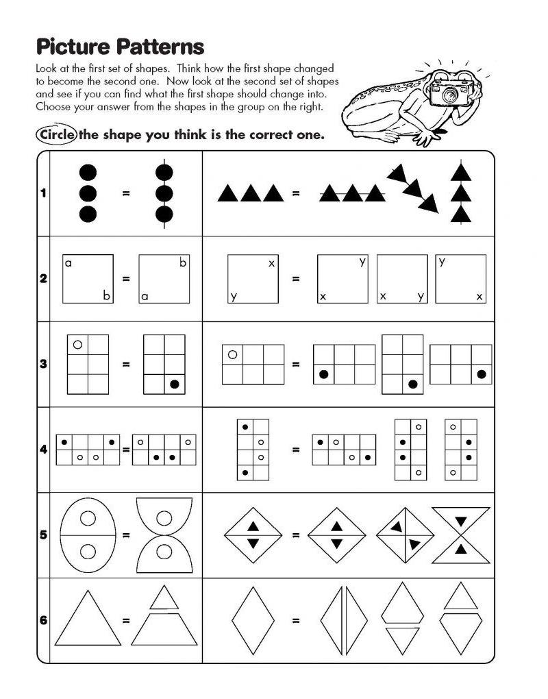 printable math analogies worksheet