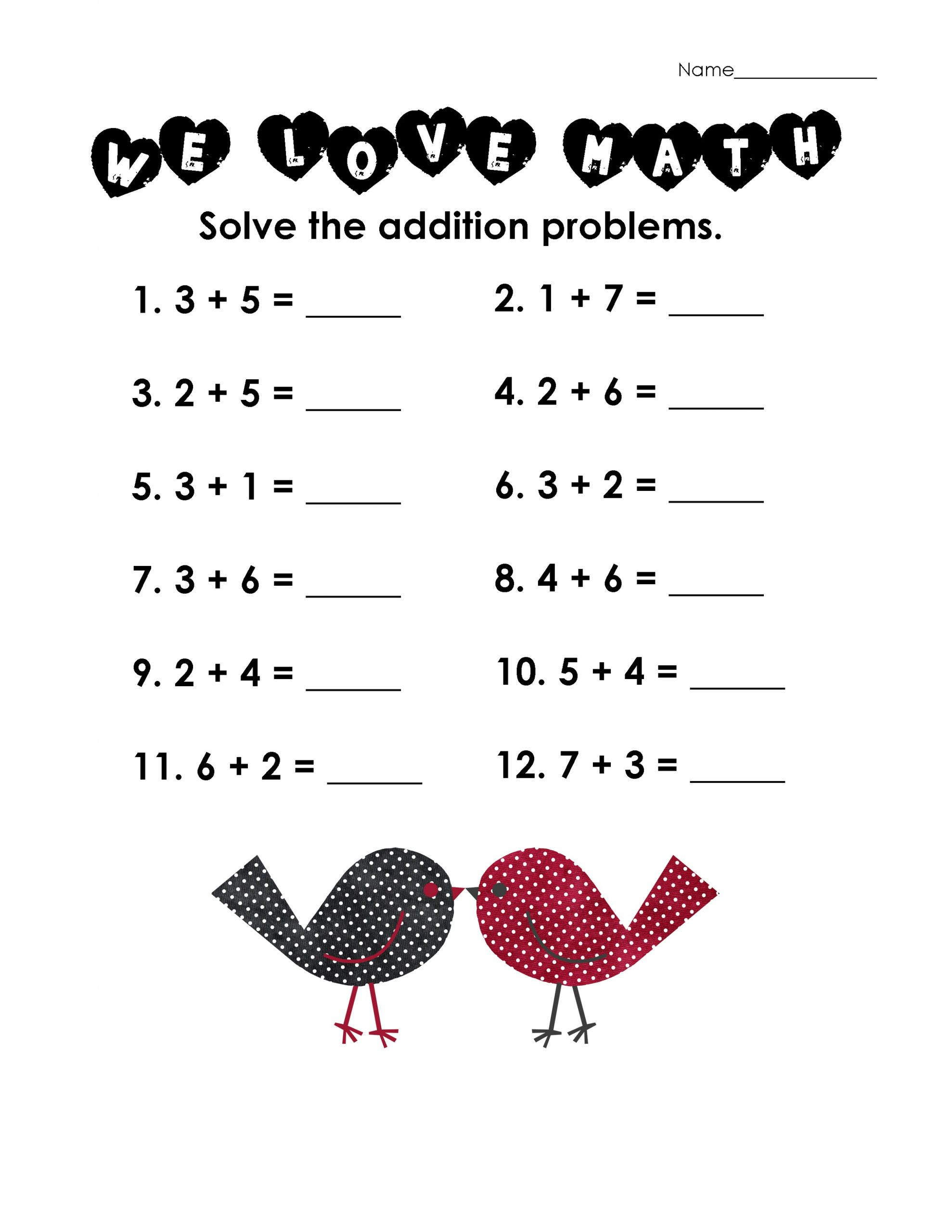 simple free math practice sheets