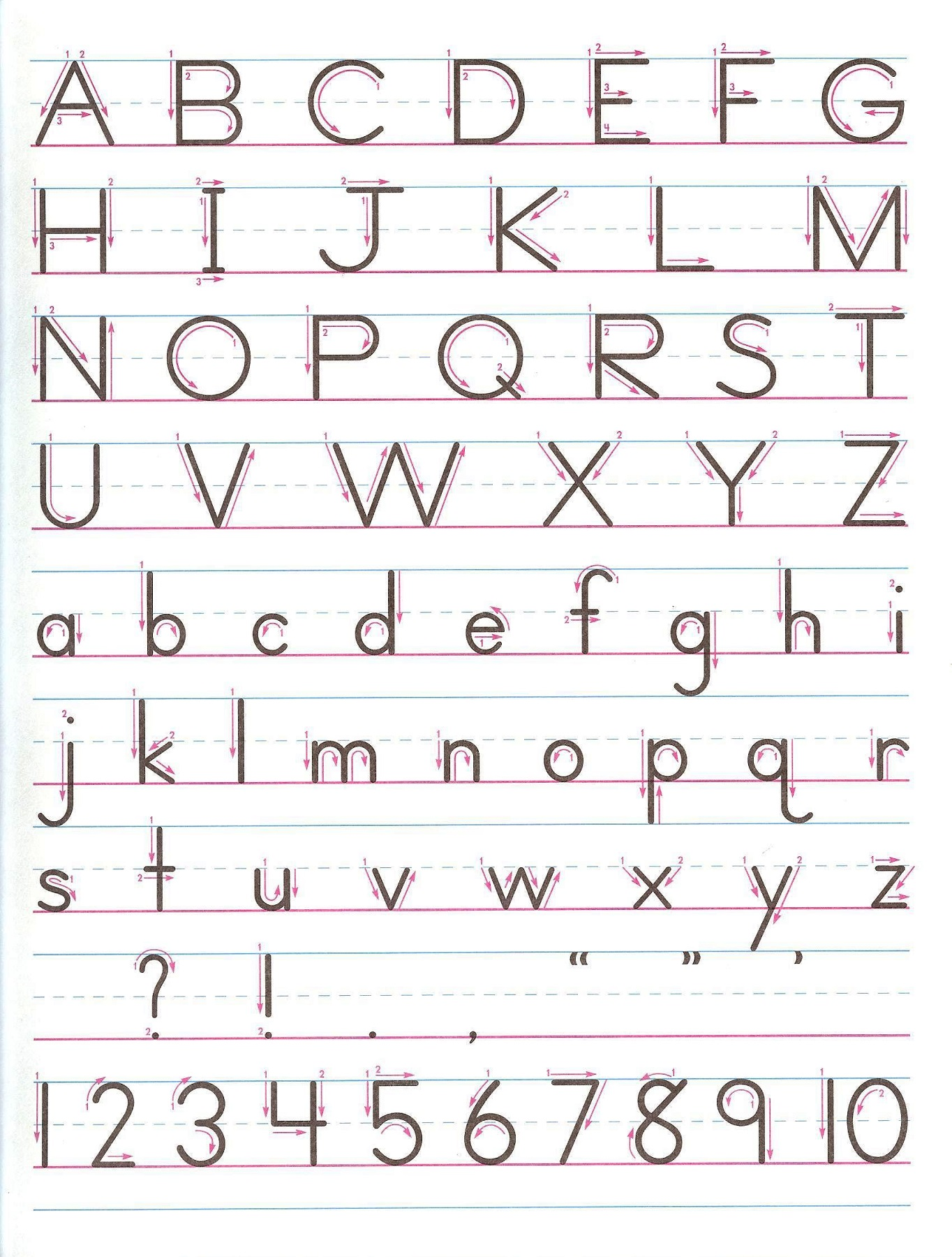 trace letters and numbers for kids
