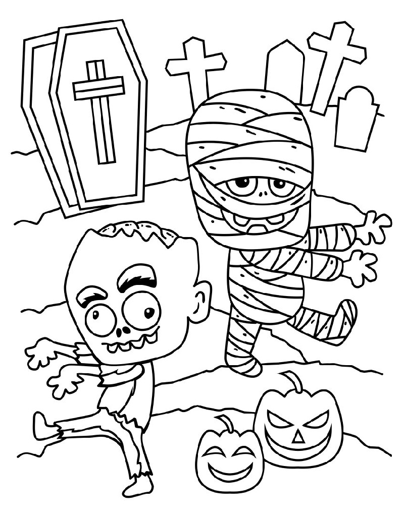 Coloring Mummy Pictures For Kids