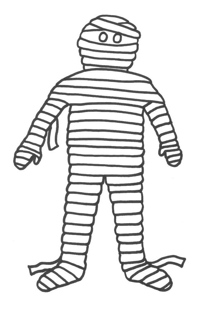 Printable Mummy Pictures For Kids