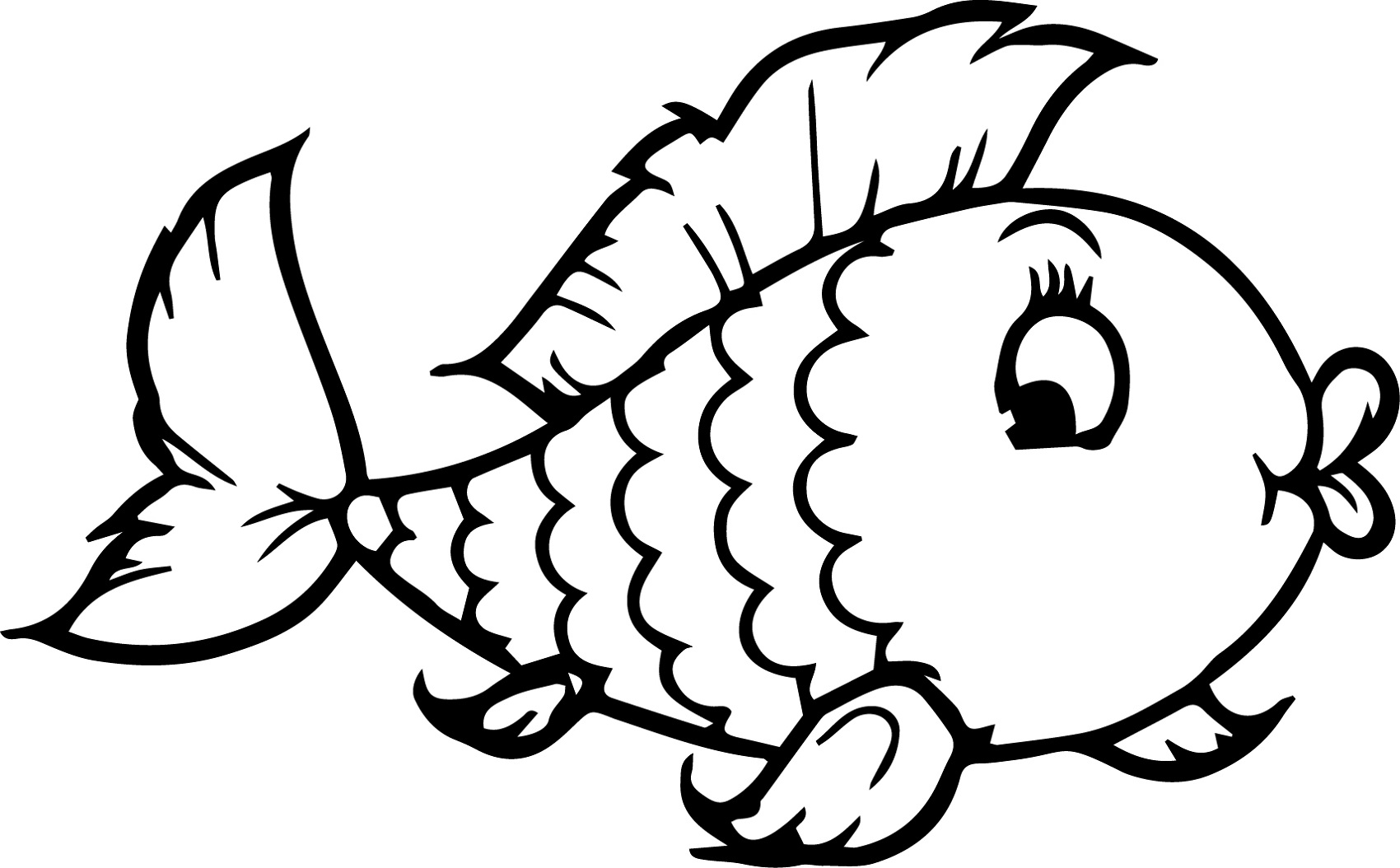 funny color pages of fish