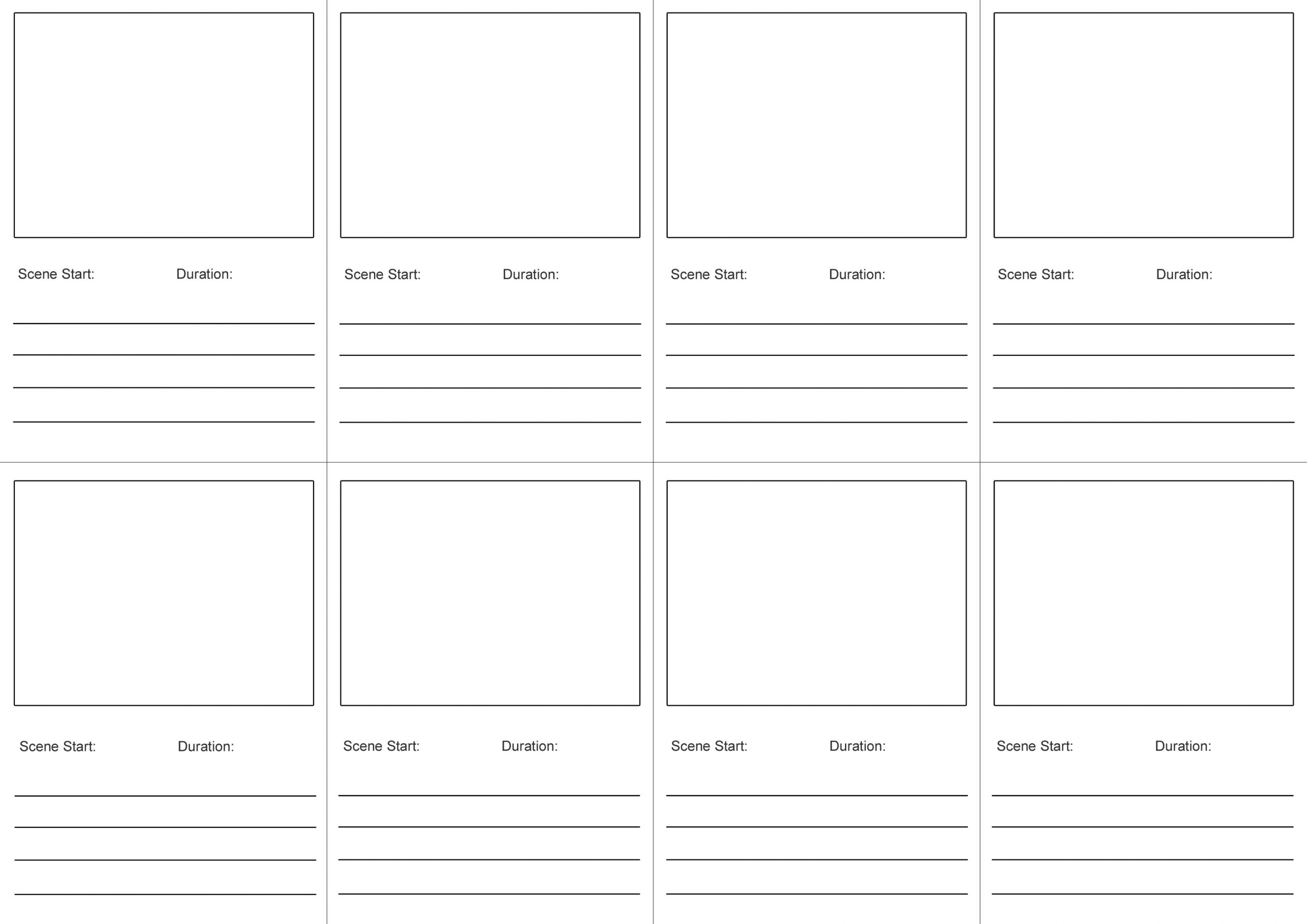 storyboard free printable children's book template